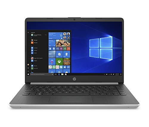 HP 14-Inch Laptop, 10th Gen Intel Core i3-1005G1, 4 GB SDRAM, 128 GB Solid-State Drive, Windows 10 Home in S Mode (14-dq1010nr, Silver)