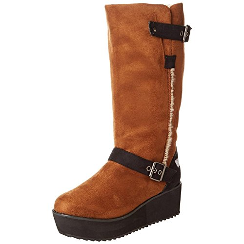 C Label Women's Nata-16 Engineer Boot,Chestnut,8 M US