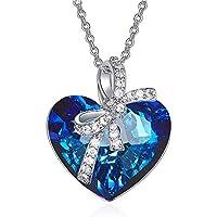 Bijours Ocean Heart Necklace for Women