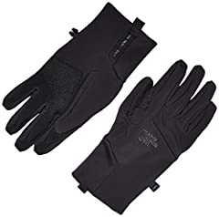 Versatile softshell glove provides protection and dexterity during everyday, cool-weather conditions.  TNF Apex ClimateBlock softshell with DWR (Durable Water Repellent) at back of hand helps block moisture and wind. TNF™ Apex ClimateBlock so...