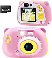 Veroyi 32GB Kids Camera 15.0MP wiederaufladbare Digitale Kamera vorne und hinten Selfie-Kamera Kind Camcorder, Spielzeug...