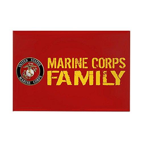 CafePress - USMC: Marine Corps Family (Red & - Rectangle Magnet, 2