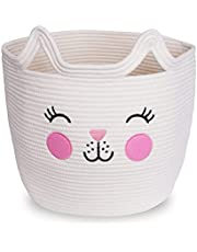 Clothes & Toy Organizer for Cat Decor Laundry & Blanket Basket Storage for Cat Lovers – A Great Gift for the Crazy Cat Lady
