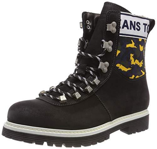 Hilfiger Denim Tommy Jeans Camo Hiking Boot, Stivali Combat Uomo Nero (Black 990)