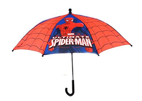 KIDS LICENSED COMIC UMBRELLAS-BOYS BATMAN AVENGERS SPIDERMAN NINJA STAR WARS (Spiderman)