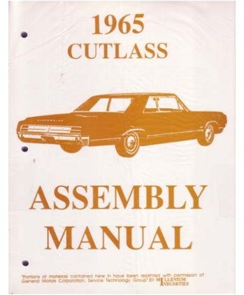 1965 OLDSMOBILE CUTLASS Assembly Manual Rebuild Book