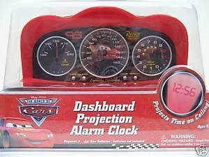 Disney Pixar Cars Dashboard Projection Alarm Clock - Cars Alarm Clock (Disney Cars Alarm Clock)