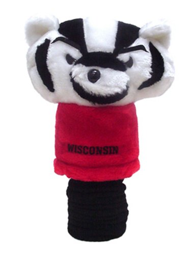 Team Golf NCAA Wisconsin Badgers Mascot Golf Club Headcover, Fits most Oversized Drivers, Extra Long Sock for Shaft Protection, Officially Licensed -
