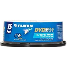 Fuji DVD+RW Rewritable 4.7 GB / 120 Min Disc (15 pack spindle)