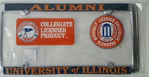 New - University of Illinois Fighting Illini Alumni Metal License Plate Frame - Auto Car -