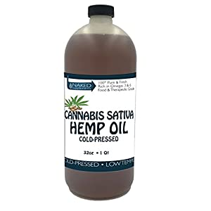 Hemp Oil-Cannabis Sativa Oil, 100% Pure_No Fillers or Additives, Therapeutic Grade (32 Ounce)
