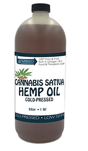 Price comparison product image Hemp Oil-Cannabis Sativa Oil, 100% Pure_No Fillers or Additives, Therapeutic Grade (32 Ounce)