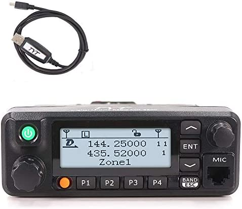 TYT MD-9600 Transceiver, 50W Mobile DMR Car Ham Radio, Digital 136-174 400-470 MHz Dual Band Two-Way Radio Transceiver 3000 Channels 50 45 25W DMR GPS Fcuntion Available