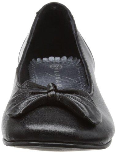 Lunar FLH712 - Bailarinas de cuero mujer negro - negro