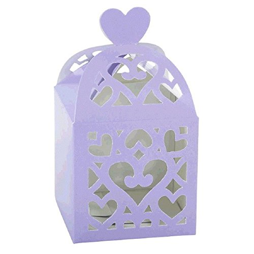 Amscan Functional Wedding Party Accessory Lantern Favor Box, 2-1/2 x 2-1/2 x 2-1/2