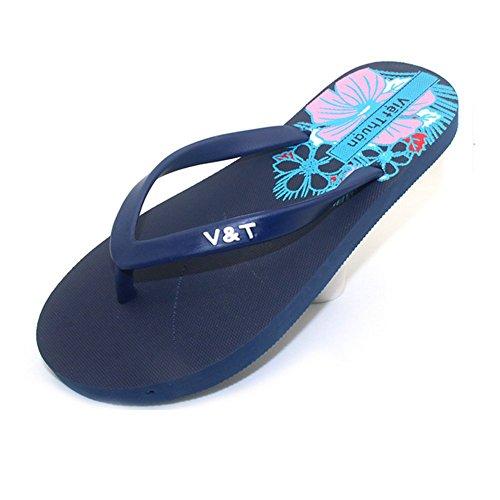 Donna Navyblue Traspirante 38 Sandali Gomma Pantofola Infradito Da In Estate Black vXCvwqxA