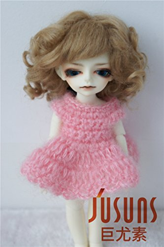 Jusuns JD012 4-5 inch 11-13CM Ash Blond Baby wave Sophia mohair doll wigs 1/12 BJD Doll - Blonde Mohair
