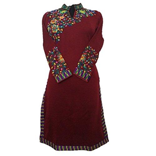 654f55eeb Jigyaasha Women s Woolen Kurti (JY043 044 Maroon XX-Large)  Amazon ...