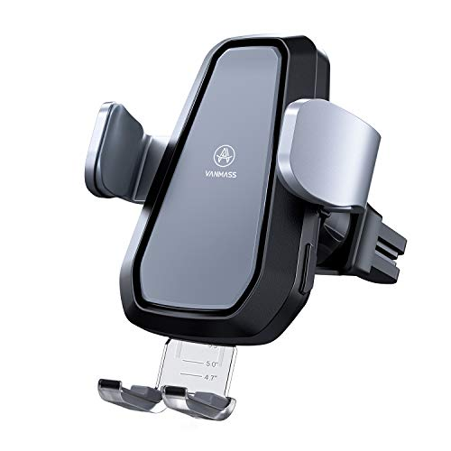 VANMASS Motorized Wireless Car Charger Mount, Qi Certified, Air Vent Wireless Charger Holder with 7.5W/10W Qi Fast Charging, Automatic Clamping Wireless Car Charger Mount for All Qi-Enabled - Charger Shake