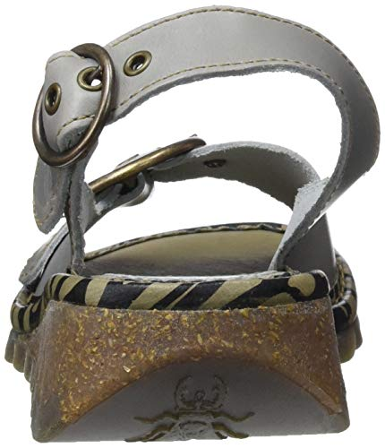 Tram723fly Woman London nuvola Grey Bridle 015 Back Sandali Fly wz56Z