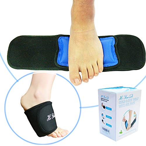 HiFineCare Cold Pack Foot Hand, Hot Cold Therapy Gel Ice Pack, Cooling Pack with Wrap for Injuries, Pain, Ankle, Reusable, Adjustable Gift for Man, Woman