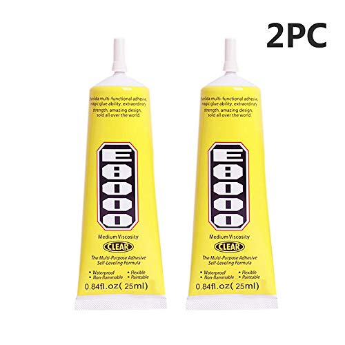 2 Pcs E8000 Clear Adhesive Sealant Glue for DIY Diamond Shoes Paste Jewelry Craft (Multicolor) from Caslia