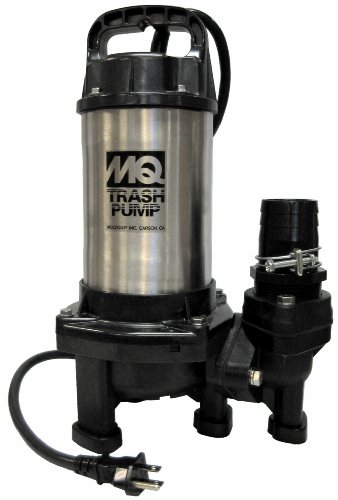 Multiquip PX400 Single Phase Submersible Trash Water Pump, 34-Feet Head, 72 GPM, 2-Inch Discharge