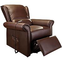 ACME Furniture 59169 Emari Recliner with Power Lift & Massage, Dark Brown PU