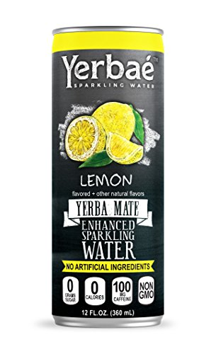 Yerbae Enhanced Sparkling Water Lemon (12 Pack) Energy Yerba Mate