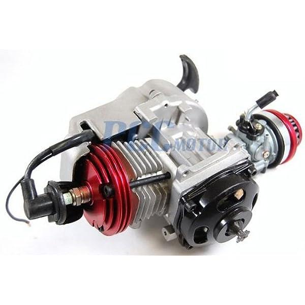 Amazon Com Pcc Motor 49cc 2 Stroke High Performance Engine Motor Pocket Mini Bike Scooter Atv En06 Automotive