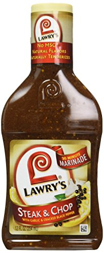 Lawry's Steak & Chop Marinade, 12 fl oz (Case of 6)