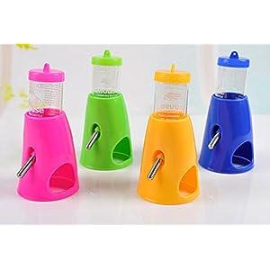 She-love 2 in 1 Hamster Water Bottle Holder Dispenser With Base Hut Small Animal Nest, Random Color, 1 Pc