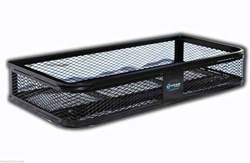 Titan Universal Front Atv Hd Steel Cargo Basket Rack Luggage Carrier (Atv Front Rack)
