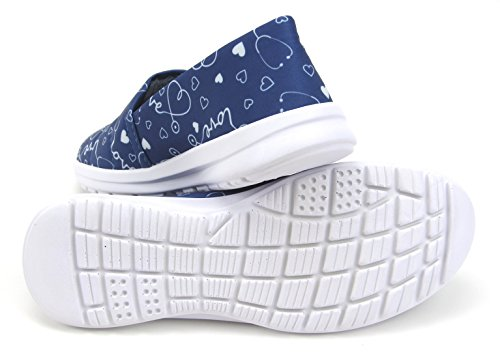 Ocean Women's Cute Memory Foam Nursing Shoes - Printed - Florence (10, Stetho Love Blue) by Keep Nursing (Image #4)