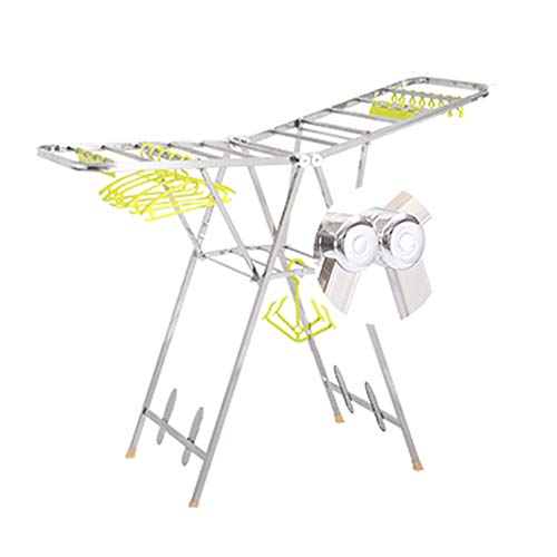 Winged Folding Clothes Airer, Adjustable Clothes Dry Rail Ha