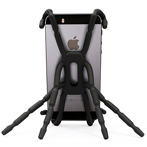 Newstylee Spiderpodium Portable Stand / Car Mount Holder for Iphone 5S/5C/5/4S/4, Samsung Galaxy S4/S3/S2/S