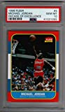 Michael Jordan Chicago Bulls PSA 10 GEM MT 1996-97 Fleer Decade of Excellence 1986 Rookie RC Reprint #4