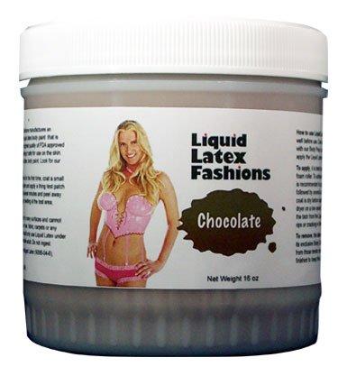 Liquides Fashions latex Body Paint, Chocolat, 16 onces Jar
