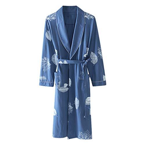 da in notte di dimensioni donna pi maniche Camicia LINGZHIGAN a grandi lunghe cotone dW05aqzwF1