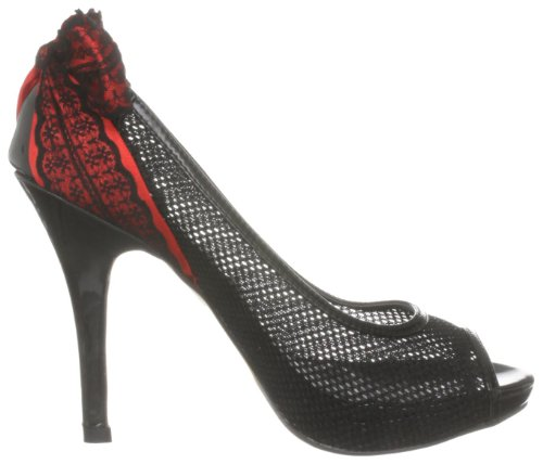 Peep Schwarz Up Meshed Toes Damen Schwarz 969 Iron Fist wqaBX7Xf