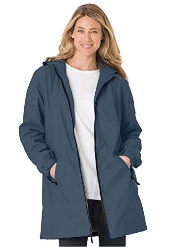 211abcf4eb3 Women s Plus Size Raincoat Slicker Repels Water  Drawstring - Import ...