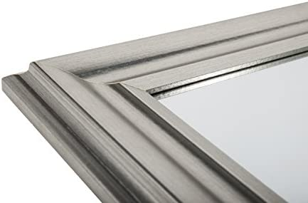 Reflex 90 x 65cm Silver Framed Over Mantle Mirror with Wall Hanging Fixings