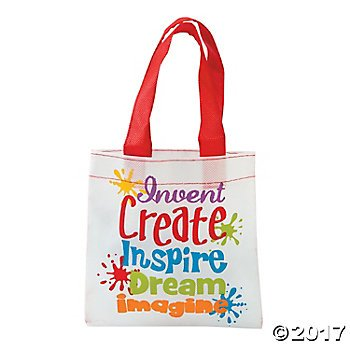 Canvas Mini Tote (Mini Little Artist Tote Bags - 12 ct)