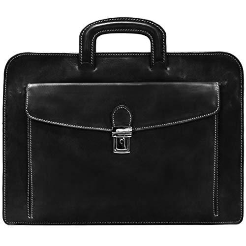 - Floto Luggage Milano Sleeve Notebook Case, Black, Medium