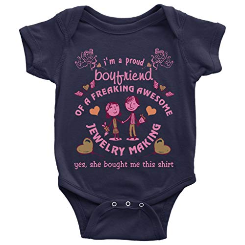 Awesome Jewelry Making Baby Bodysuit, Funny Jewelry Making