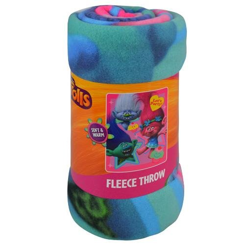 Cheapest Prices! Trolls Fleece Throw Blanket, Let's Party