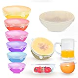LIANGDU Silicone Stretch Lids, 12 Pack Reusable