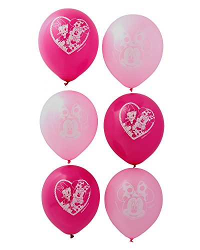 American Greetings Minnie Mouse Party Supplies, Latex Balloons, 6-Count -