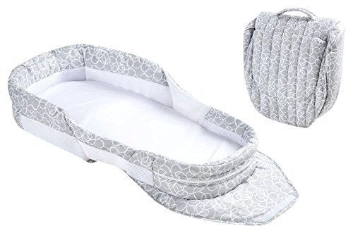 Baby Delight Snuggle Nest Surround Bl, Gray Circles