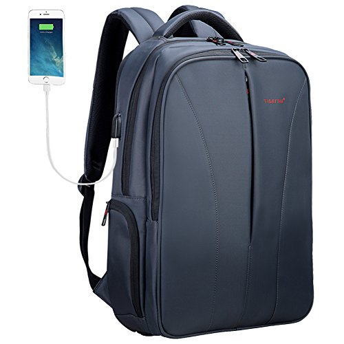 Laptop Business Backpack 15.6 16 Inch with USB Charging Port Travel Work Computer Bag Grey - Executive Backpack Computer Case
